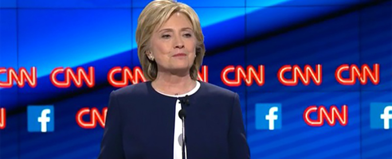 Hillary Clinton At CNN Debate
