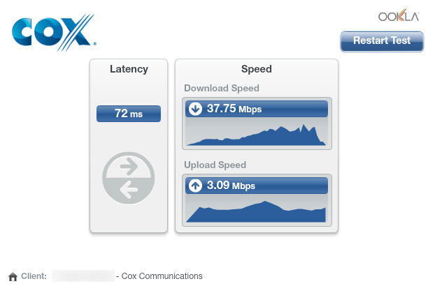 Cox.com Speedtest 7/28/14
