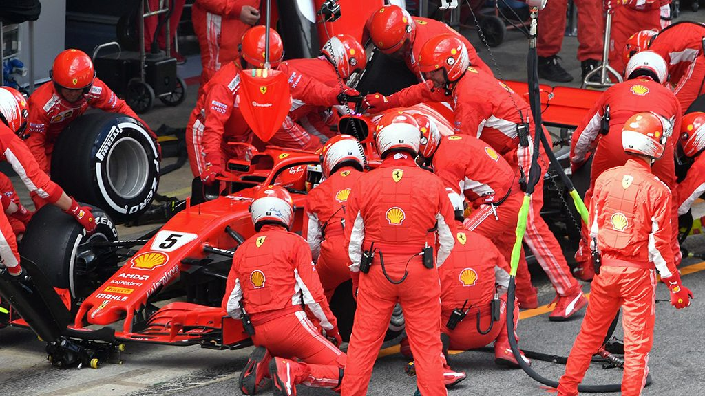 Second Vettel/Ferrari Pit Stop, Spanish GP, 2018