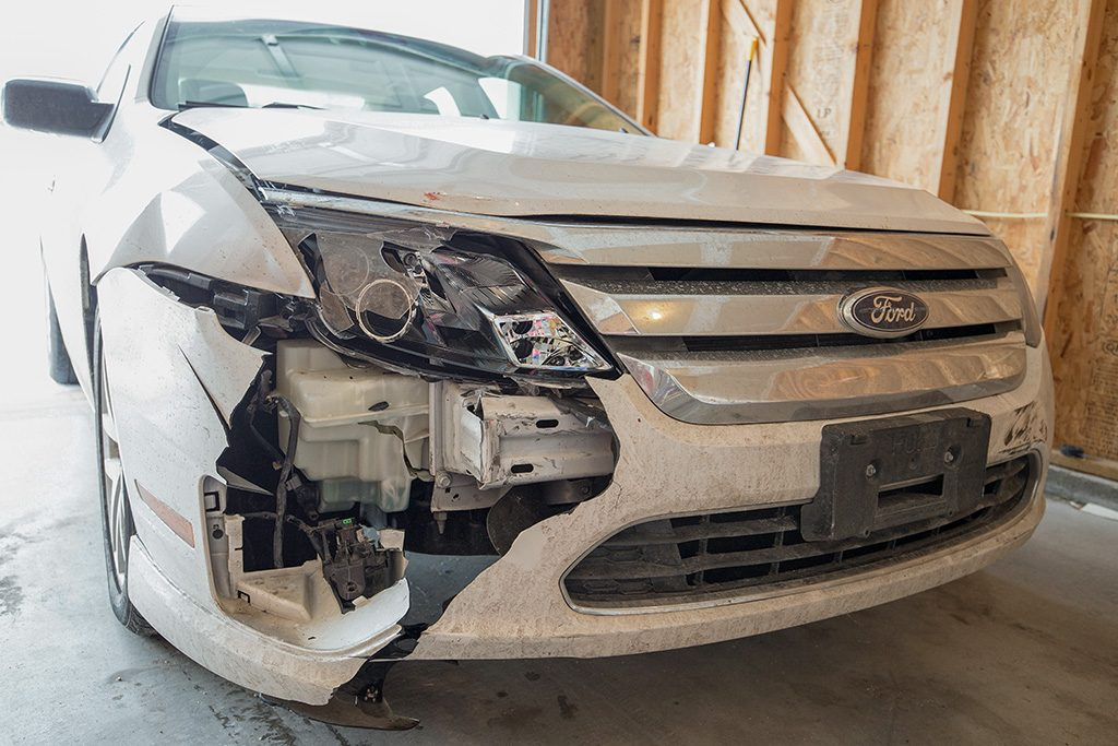 Ford Fusion Accident Damage 2/21/2018