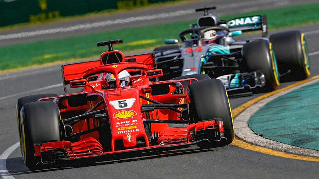 Vettel leads Hmailton at F1 Australian Grand Prixn 2018