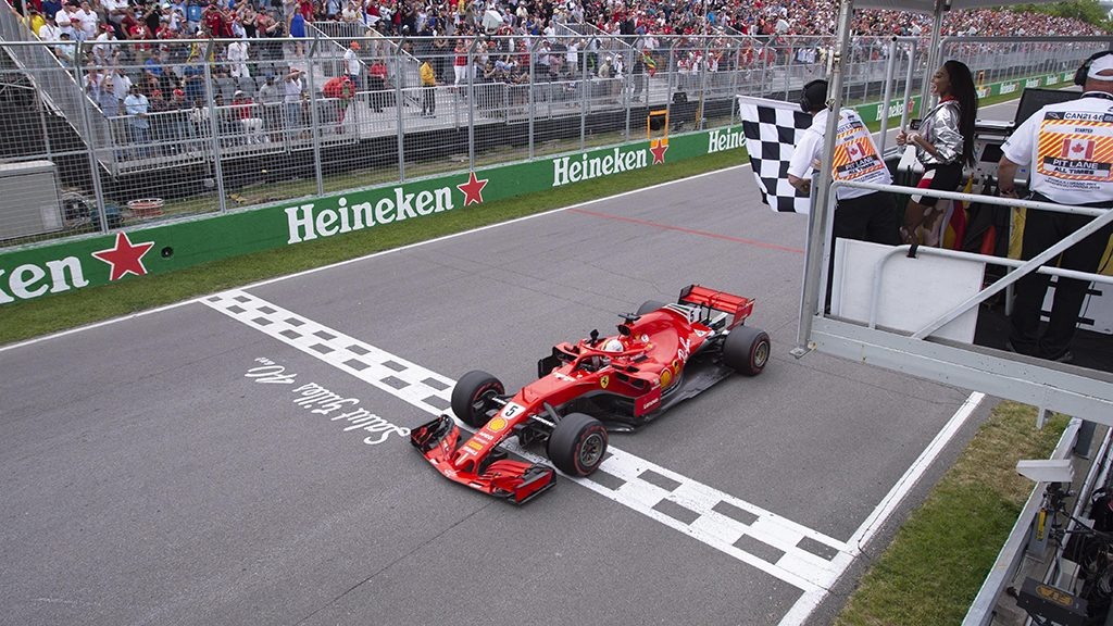 Sebasitan Vettel Wins The 2018 Canadian Grand Prix